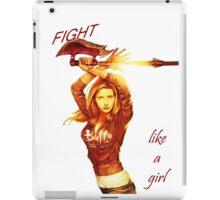 Fight like a girl iPad Case/Skin