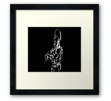 Sketchbook 0001-1 The Painter Examines His Horrible Work Framed Print