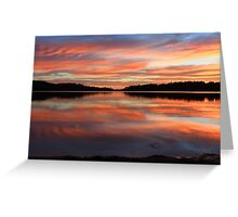 Red Sunrise Reflections at Narrabeen, Australia seascape landscape Greeting Card