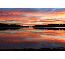 Red Sunrise Reflections at Narrabeen, Australia seascape landscape Photographic Print
