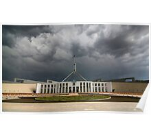Storm over Parliament House - Canberra Poster