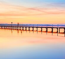 Beautiful sunset at Long Jetty seascape landscape Australia by Leah-Anne Thompson