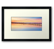Beautiful sunset at Long Jetty seascape landscape Australia Framed Print