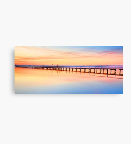 Beautiful sunset at Long Jetty seascape landscape Australia Canvas Print