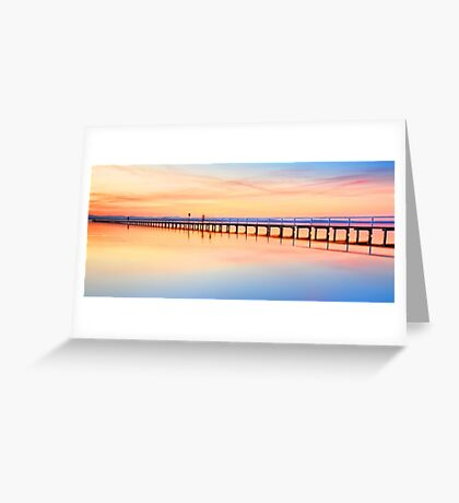 Beautiful sunset at Long Jetty seascape landscape Australia Greeting Card