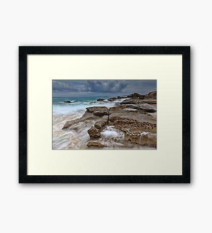 Ocean in Motion at Soldiers Beach Australia seascape landscape Framed Print