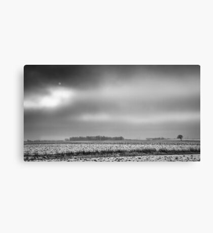 Winter In Farm Country Canvas Print
