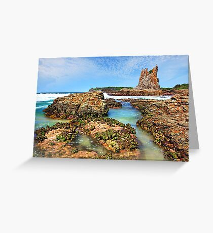 Cathedral Rocks Kiama Downs Australia seascape Greeting Card