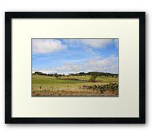 Australian Countryside, Cambewarra NSW  Australia landscape Framed Print