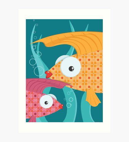 Ornate tropical fish Art Print