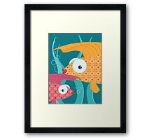 Ornate tropical fish Framed Print