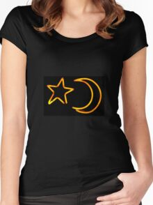 Moon & Star Women's Fitted Scoop T-Shirt