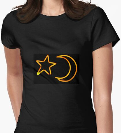 Moon & Star Womens Fitted T-Shirt