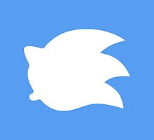Sonic the Hedgehog Symbol - Super Smash Bros. (white) by hopperograss