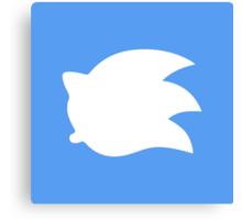 Sonic the Hedgehog Symbol - Super Smash Bros. (white) Canvas Print