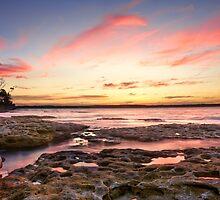 Stunning Sunset Murrays Beach Australia seascape by Leah-Anne Thompson