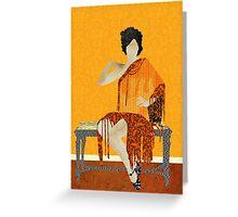 Outstanding in Orange Greeting Card