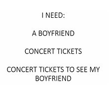 I need concert tickets by Teresaboardy