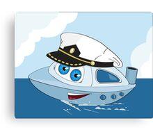 Cute ship-captain Canvas Print