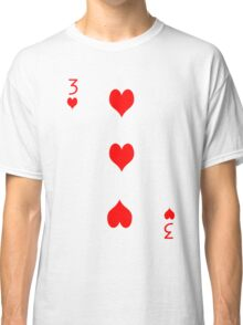 3 of Hearts Classic T-Shirt