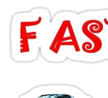 Red Cars Go Faster # 2 Sticker