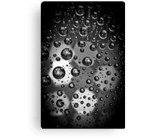 Macro Water Droplets BW Canvas Print