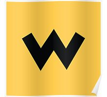 Wario Symbol - Super Smash Bros. (black) Poster