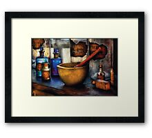 Pharmacist - Mortar and Pestle Framed Print
