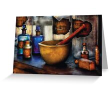 Pharmacist - Mortar and Pestle Greeting Card