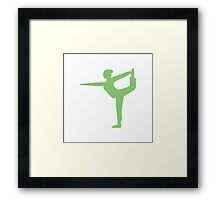Wii Fit Symbol - Super Smash Bros. (color) Framed Print