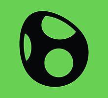 Yoshi Symbol - Super Smash Bros. (black) by hopperograss