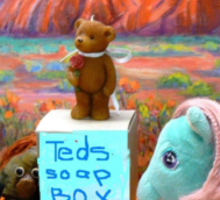 Soapy the Ted gets up on his Soapbox and talks to a Multiculture Bored Audience Sticker