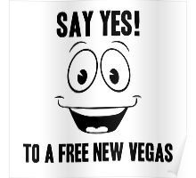 Fallout Yes Man Free New Vegas Poster