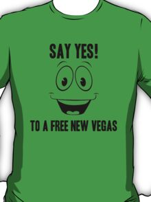 Fallout Yes Man Free New Vegas T-Shirt