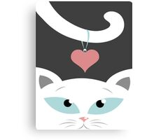 cat in love Canvas Print