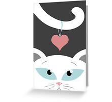 cat in love Greeting Card
