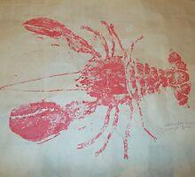 Lobster Rubbing (Gyotaku) by alan barbour