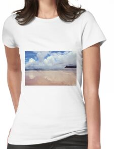 Beach Reflection Womens Fitted T-Shirt