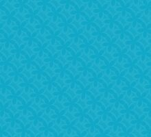 Vibrant Blue Floral Pattern by solnoirstudios