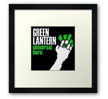 Green Lantern: Universal Hero Framed Print