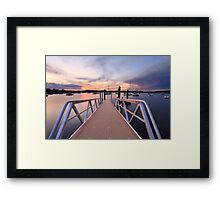 Sunset at Saratoga Australia Framed Print