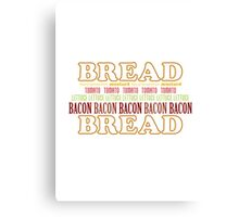 BLT Typography Canvas Print