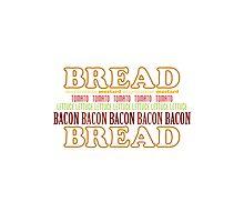 BLT Typography Photographic Print