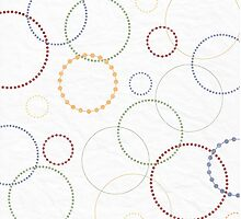 Circles on Paper Pattern by solnoirstudios