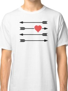 Cupid's Arrow Valentine's Day Heart Classic T-Shirt
