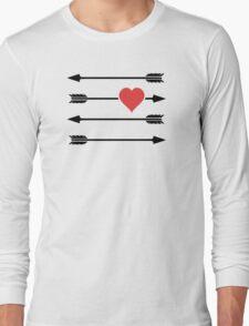 Cupid's Arrow Valentine's Day Heart Long Sleeve T-Shirt