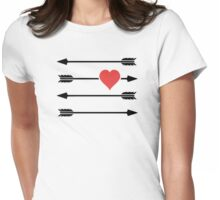 Cupid's Arrow Valentine's Day Heart Womens Fitted T-Shirt
