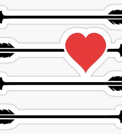 Cupid's Arrow Valentine's Day Heart Sticker