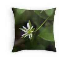 in the grass Throw Pillow