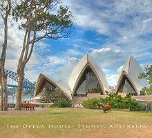 The Opera House - Sydney, Australia (Dry Brush Finish) by Brian Farrell